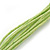 Multistrand Lime Green Wood Beaded Cotton Cord Necklace - 80cm Length - view 6