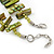 Olive Green Shell Nugget & Small Glass Bead Necklace In Silver Tone - 52cm Length/ 4cm Extension - view 5