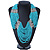 Chunky Turquoise & Transparent Coloured Glass Bead Bib Necklace In Silver Plating - 52cm Length/ 9cm Extension - view 6
