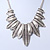 Ethnic Hammered Leaf Necklace In Burn Silver Metal - 42cm Length/ 5cm Extension - view 9