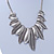 Ethnic Hammered Leaf Necklace In Burn Silver Metal - 42cm Length/ 5cm Extension - view 8