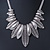 Ethnic Hammered Leaf Necklace In Burn Silver Metal - 42cm Length/ 5cm Extension - view 7
