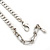 Ethnic Hammered Leaf Necklace In Burn Silver Metal - 42cm Length/ 5cm Extension - view 6