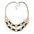 Silver/ Gold/ Black Tone Diamante Square Link Mesh Chain Necklace - 52cm Length/ 7cm Extension - view 6