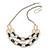 Silver/ Gold/ Black Tone Diamante Square Link Mesh Chain Necklace - 52cm Length/ 7cm Extension - view 2