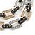 Silver/ Gold/ Black Tone Diamante Square Link Mesh Chain Necklace - 52cm Length/ 7cm Extension - view 3