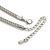 Silver/ Gold/ Black Tone Diamante Square Link Mesh Chain Necklace - 52cm Length/ 7cm Extension - view 5