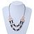 Silver/ Gold/ Black Tone Diamante Square Link Mesh Chain Necklace - 52cm Length/ 7cm Extension - view 7