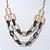 Silver/ Gold/ Black Tone Diamante Square Link Mesh Chain Necklace - 52cm Length/ 7cm Extension - view 8