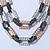 Silver/ Gold/ Black Tone Diamante Square Link Mesh Chain Necklace - 52cm Length/ 7cm Extension - view 9