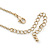 Long Stylish Round & SquareTeal Enamel Station Necklace In Gold Plating - 94cm Length/ 8cm Extension - view 7