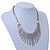 Vintage Inspired Crystal Bars Bib Style Necklace In Antique Silver Finish - 40cm Length/ 7cm Extension - view 6