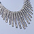 Vintage Inspired Crystal Bars Bib Style Necklace In Antique Silver Finish - 40cm Length/ 7cm Extension - view 7