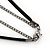 Gold Plated Crystal 'Cobra' Pendant With Black Suede Cord & Black Tone Chain - 70cm Length - view 5