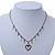 Vintage Inspired Crystal Open Heart Pendant With Bronze Tone Beaded Chain - 38cm L/ 6cm Ext - view 6