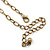 Victorian Style Bronze Tone Filigree Cross Pendant With Oval Chunky Chain Necklace - 44cm Length/ 6cm Extension - view 6