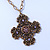 Victorian Style Bronze Tone Filigree Cross Pendant With Oval Chunky Chain Necklace - 44cm Length/ 6cm Extension - view 7