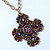Victorian Style Bronze Tone Filigree Cross Pendant With Oval Chunky Chain Necklace - 44cm Length/ 6cm Extension - view 8