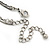 Vintage Inspired Olive Green Crystal, Enamel Square Shape Pendant With Dangles Double Chain Necklace In Burn Silver - 33cm Length/ 7cm Extension - view 5