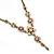 Vintage Inspired Pastel Enamel, Crystal Floral V-Shape Necklace In Bronze Tone Metal - 38cm Length/ 6cm Extension - view 14