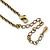 Vintage Inspired Pastel Enamel, Crystal Floral V-Shape Necklace In Bronze Tone Metal - 38cm Length/ 6cm Extension - view 5