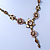 Vintage Inspired Pastel Enamel, Crystal Floral V-Shape Necklace In Bronze Tone Metal - 38cm Length/ 6cm Extension - view 10