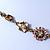 Vintage Inspired Pastel Enamel, Crystal Floral V-Shape Necklace In Bronze Tone Metal - 38cm Length/ 6cm Extension - view 11
