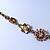 Vintage Inspired Pastel Enamel, Crystal Floral V-Shape Necklace In Bronze Tone Metal - 38cm Length/ 6cm Extension - view 12