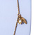 Vintage Inspired Heart, Freshwater Pearl, Flower Long Chain Necklace - 86cm Length - view 7