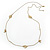 Vintage Inspired Heart, Freshwater Pearl, Flower Long Chain Necklace - 86cm Length - view 6