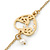 Vintage Inspired Heart, Freshwater Pearl, Flower Long Chain Necklace - 86cm Length - view 3
