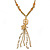 Vintage Inspired Butterfly, Simulated Pearl, Chain Tassel Necklace - 45cm L/ 5cm Ext/ 8cm Tassel