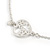 Vintage Inspired Heart, Freshwater Pearl, Flower Long Chain Necklace in Light Matt Silver Tone - 90cm L - view 6