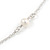 Vintage Inspired Heart, Freshwater Pearl, Flower Long Chain Necklace in Light Matt Silver Tone - 90cm L - view 7