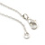 Vintage Inspired Heart, Freshwater Pearl, Flower Long Chain Necklace in Light Matt Silver Tone - 90cm L - view 8