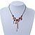 Vintage Inspired Purple Crystal, Enamel Floral Necklace In Bronze Tone - 38cm L/ 5cm Ext - view 5