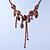 Vintage Inspired Purple Crystal, Enamel Floral Necklace In Bronze Tone - 38cm L/ 5cm Ext - view 6