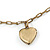 Vintage Inspired Heart Locket Charm Long Chain Necklace - 90cm L/ 7cm Ext - view 3