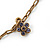Vintage Inspired Heart Locket Charm Long Chain Necklace - 90cm L/ 7cm Ext - view 4