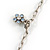 Vintage Inspired Heart Locket Charm Long Chain Necklace In Silver Tone - 90cm L/ 7cm Ext - view 5