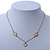 Romantic Mother of Pearl Triple Heart Necklace In Gold Plating - 38cm Length/ 7cm Extension - view 3