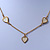 Romantic Mother of Pearl Triple Heart Necklace In Gold Plating - 38cm Length/ 7cm Extension - view 4