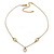 Romantic Mother of Pearl Triple Heart Necklace In Gold Plating - 38cm Length/ 7cm Extension - view 2
