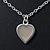 Romantic Mother of Pearl Triple Heart Necklace In Silver Tone Metal - 38cm Length/ 7cm Extension - view 6