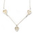 Romantic Mother of Pearl Triple Heart Necklace In Silver Tone Metal - 38cm Length/ 7cm Extension - view 7