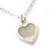 Romantic Mother of Pearl Triple Heart Necklace In Silver Tone Metal - 38cm Length/ 7cm Extension - view 9