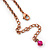Vintage Inspired Bronze Tone Glass Bead, Crystal Heart, Coin Charm Necklace - 38cm Length/ 8cm Extension - view 6