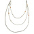 Long Delicate Beaded Layered Necklace In Silver Tone - 106cm L - view 3