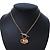 Gold Tone Multi Heart Charm Pendant With 34cm L/ 7cm Ext Chain - view 7