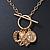 Gold Tone Multi Heart Charm Pendant With 34cm L/ 7cm Ext Chain - view 6